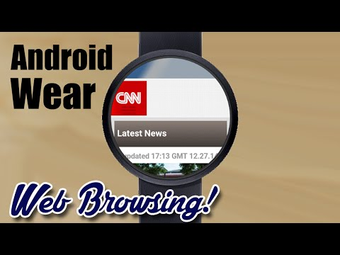 Web Browsing On Android Wear! -- With Fossil Q Founder