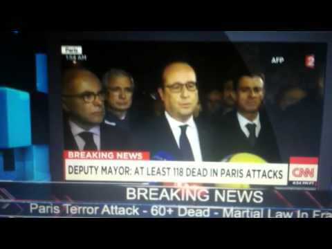 BREAKING NEWS isis  PARIS ALL FLIGHTS CANCELLED USA WAR CNN LIVE TV FRIDAY 13TH 505PM 140 DEAD