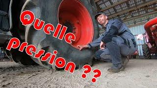Gonflage des pneus sur tracteur agricole