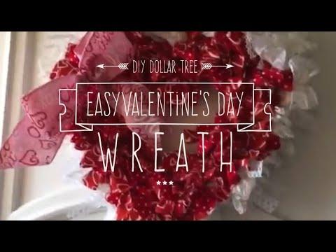 Easy Diy Valentine S Day Wreath Tutorial Using Dollar Tree Item 2017