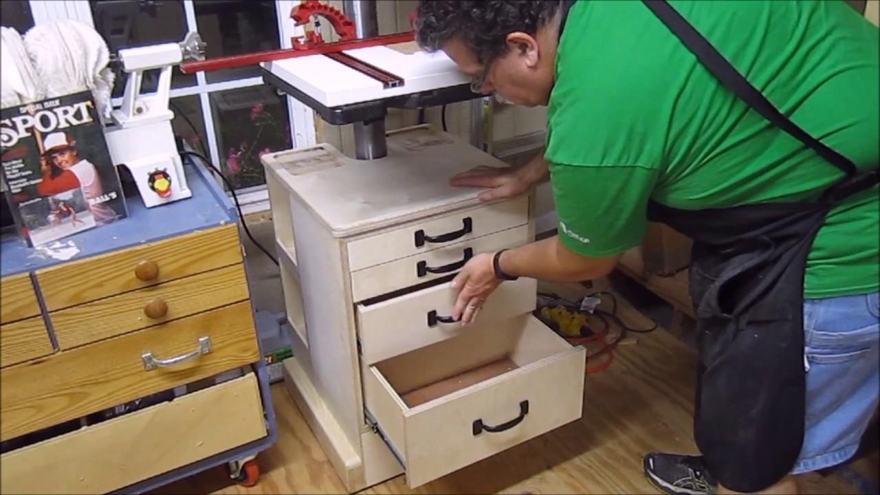 Drill Press Cabinet - YouTube