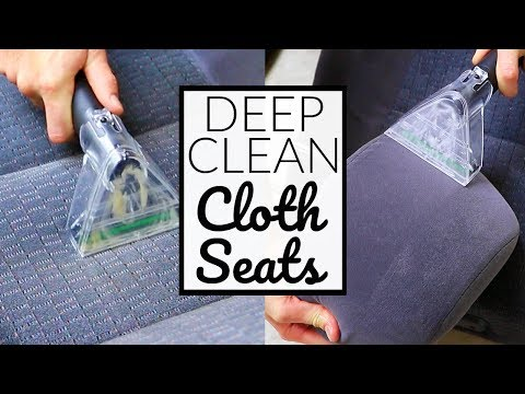 How To CLEAN NASTY Car Seats - Car Seat Cleaning The Right Way