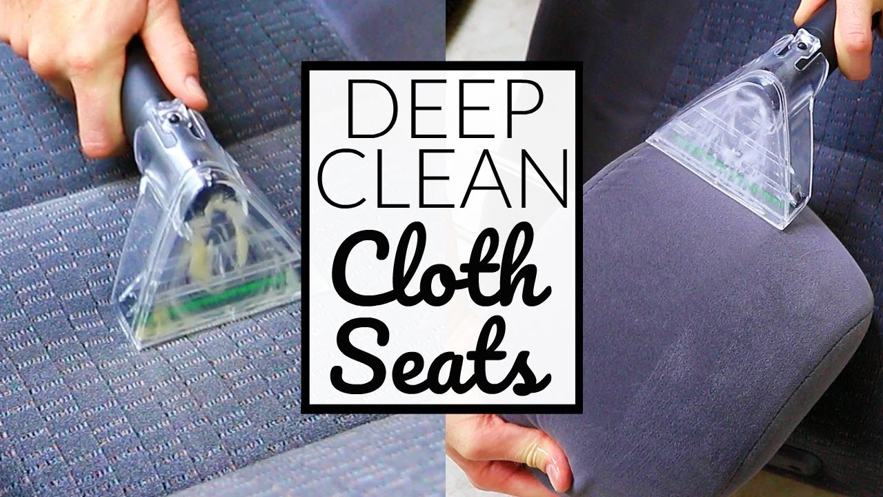 how to deep clean cloth car seats car interior detailing doovi. Black Bedroom Furniture Sets. Home Design Ideas