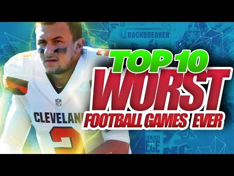 Top 10 WORST Football Video Games Ever