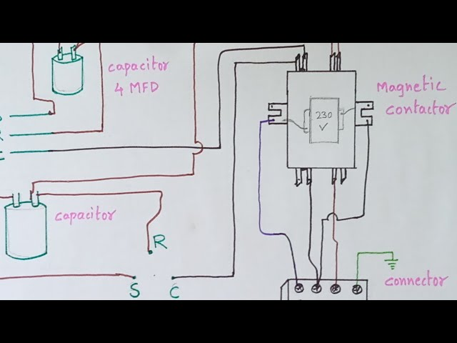 ac outdoor unit magnetic contactor diagram - YouTube | Hvac Contactor Wiring Diagram For Compressor |  | YouTube