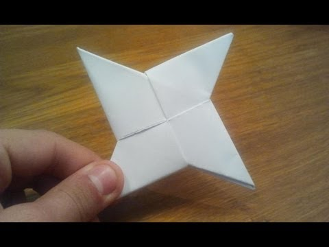 How To Make a Paper Ninja Star (Shuriken) - Origami