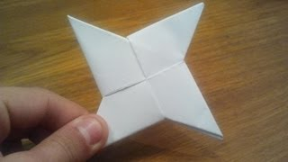 Repeat youtube video How To Make a Paper Ninja Star (Shuriken) - Origami