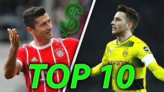 TOP 10 Highest Paid BUNDESLIGA Players in 2018!
