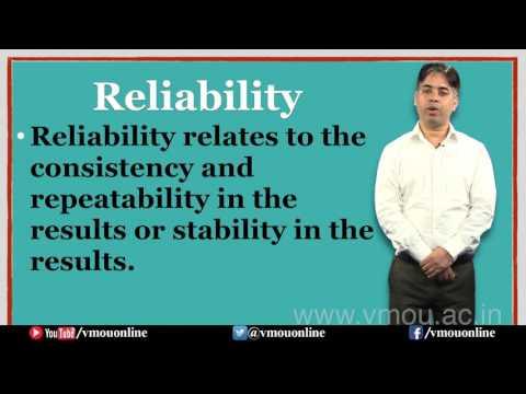 Reliability- Introduction & Characteristics- Dr. Patanjali Mishra