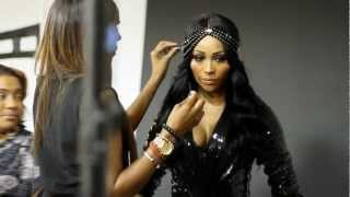 Behind The Scenes: Cynthia Bailey Photo Shoot for Sophisticate's Black Hair Magazine