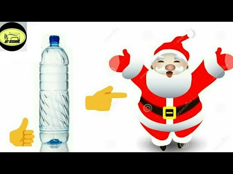 #76 🤗🤗How To Make Santa Claus With Waste Water Bottle...👍👍 ||SantaClaus||
