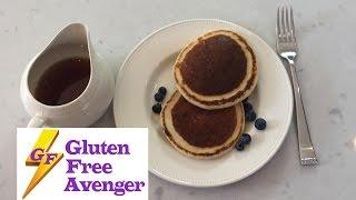 Gluten Free Almond Blueberry Pancakes