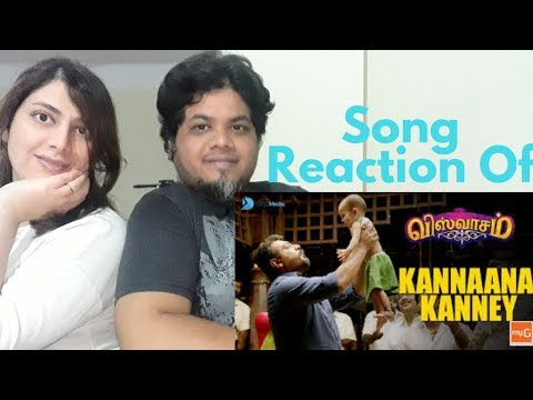 #ViswasamSongs Kannaana Kanney Song with Lyrics Reaction| foreigner vs north Indian Reaction|