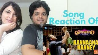 #ViswasamSongs Kannaana Kanney Song with Lyrics Reaction| foreigner vs north Indian Reaction|