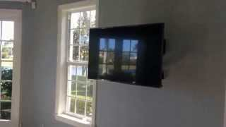 "Automatic Motorized TV Wall Bracket with 50"" LG LED TV- Chief PXR & LG 50LB6500"