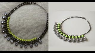 Transformations: Accessories Edition - H&M Neon Necklace - OkieDokersTV Thumbnail