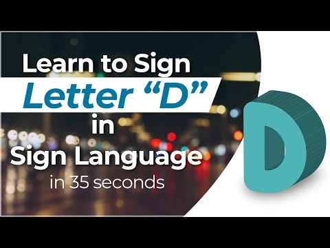 """How To Sign The Letter """"D"""" In Sign Language?"""