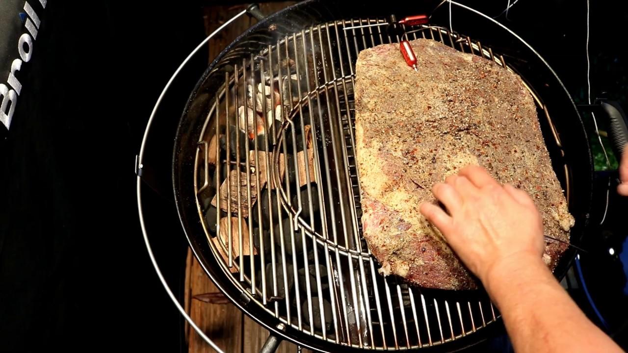 Rösle Gasgrill Kugel : Beef brisket in der kugel mit dem slow n sear einsatz gemacht