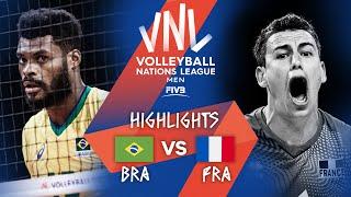 BRA vs. FRA - Highlights Week 2   Men's VNL 2021