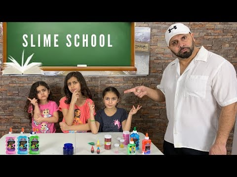 First Day at Slime School with Silly Teacher- new toy school