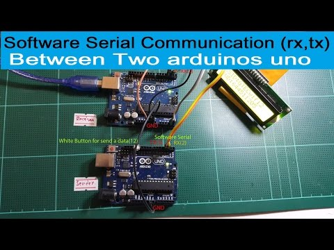 Software Serial Communication (rx,tx) Between Two Arduinos Uno (Sending And Receiving)