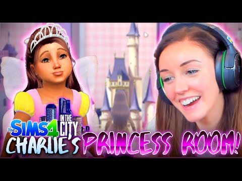 👸CHARLIE GETS A PRINCESS BEDROOM!🏰 (The Sims 4 IN THE CITY #11! 💒)