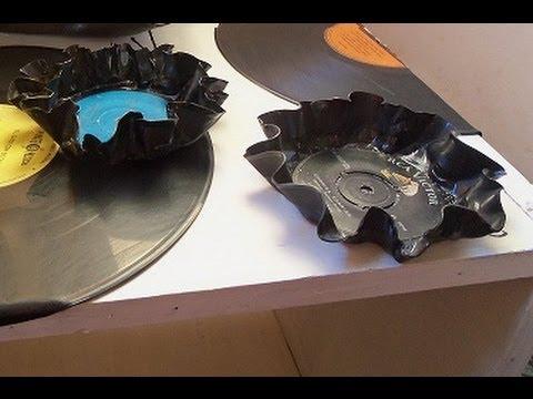 Discos de vinilo reciclados youtube - Decoracion con discos de vinilo ...