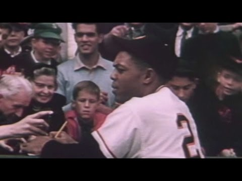 Scenes from final Giants game at Polo Grounds in 1957