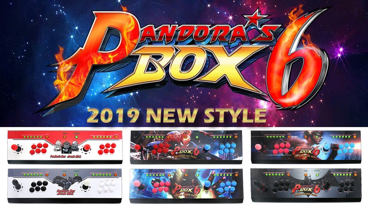 2019 New Style Pandora Box 6 1300 in 1 Console red grey Spiderman Iron Man  Flash Batman