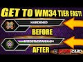HOW TO GET TO WRESTLEMANIA 34 TIER FAST! HOW TO GET BETTER CARDS! Noology WWE SuperCard Season 4!