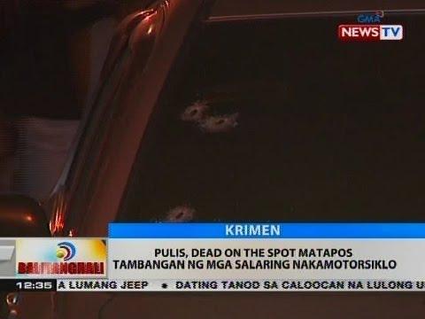 BT: Pulis, dead on the spot matapos tambangan ng mga salaring nakamotorsiklo
