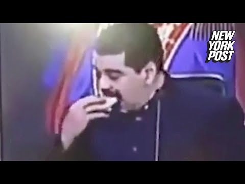 Venezuelan president chomps on an empanada while his country starves | New York Post