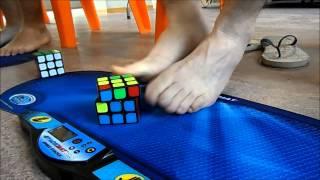 [Récord España] Cubo de Rubik CON LOS PIES - 1:06,58 Media