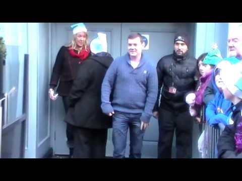 Brendan O' Carroll Buster Christmas Eve 2013 Grafton Street  Dublin.