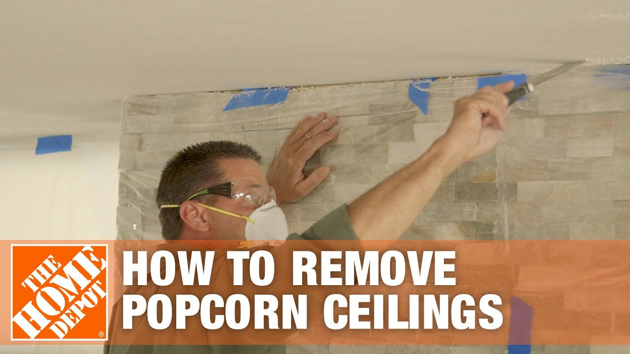How To Remove Popcorn Ceilings The Home Depot