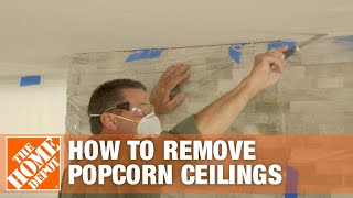 How to Remove Popcorn Ceilings | The Home Depot