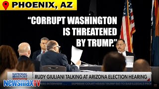 Giuliani presents evidence at election hearing in Arizona