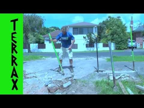 "AMAZING NEW INVENTION ""TERRAX"" concrete breaking demolition job turbo charged digging tool"