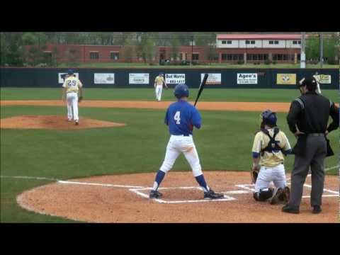 Wesley Johnson of the Bartlett High School Panthers, hits solo homerun vs Brentwood TN 3-24-2012 HD