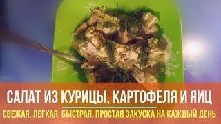 Как приготовить простой и нежный салат из филе курицы, картофеля и яиц