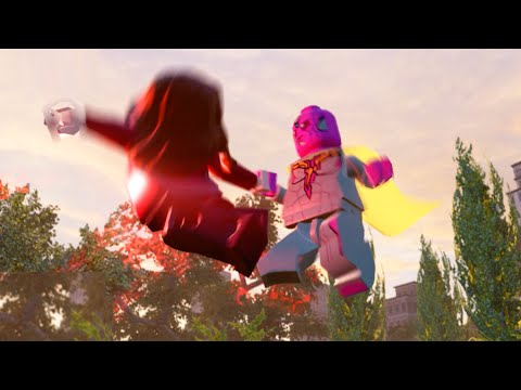 Lego Marvels Avengers All Vision Team Up Special Moves (Showcase)