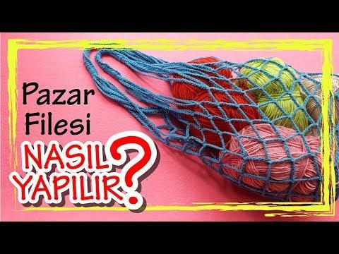 Pazar Alışveriş Filesi Yapımı #örgü#pazar#file#alışveriş#çanta#crochet#çevredostu | DIY