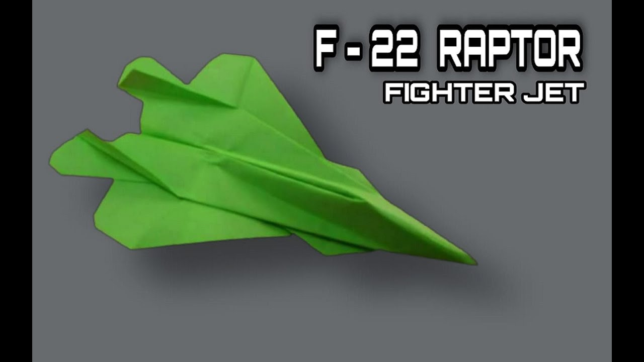 how to make a paper airplane f 22 raptor