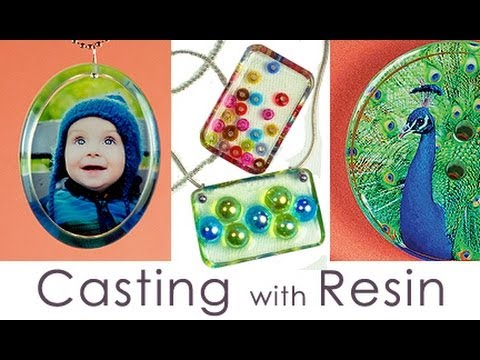 Casting with Resin - Photo Jewelry and More, by Little Windows