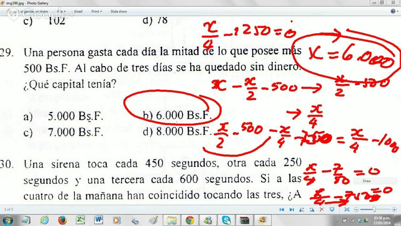 Matemáticas Para Prueba Admisión Ciencias De La Salud Ucv Youtube