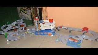3 in 1 Tomica auto parking garage tower, highway pursuit speedway& mountain drive