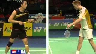 Peter Gade vs Taufik Hidayat All England 2010 Badminton Video HD