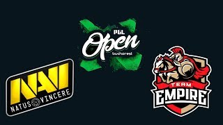 Navi NATUS VINCERE vs Empire - PGL Open Bucharest Final - Dota 2 Live Streams