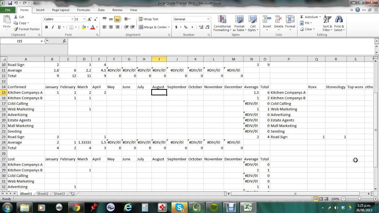 excel quote tracker excel quote tracker