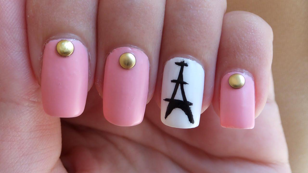 Eiffel Tower Nail Art Tutorial - YouTube